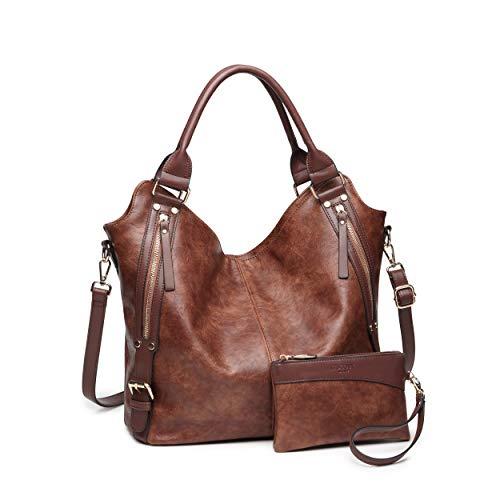 (Women Tote Bag Handbags PU Leather Fashion Hobo Shoulder Bags with Adjustable Shoulder Strap)