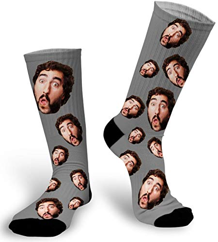 - Custom Photo Socks with Picture/Face Socks/Picture sock/Photo Sock for Man (Gray, Large)