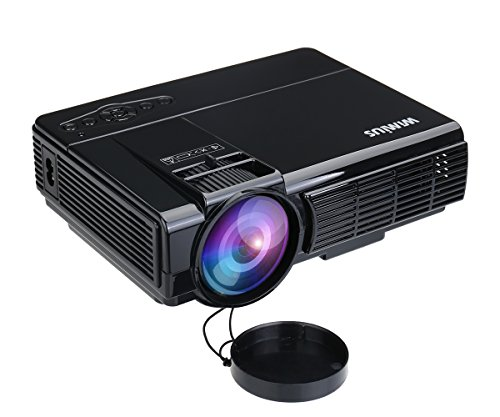 Mini projector 1200 lumens portable led video projector for Small video projectors reviews
