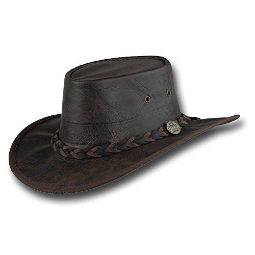 (Barmah Hats Vintage Kangaroo Leather Hat - 1018VB (Large, Vintage) )