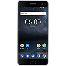 """Nokia 6 (2017) - 32 GB - Unlocked Smartphone (AT&T/T-Mobile) - 5.5"""" Screen - Silver"""