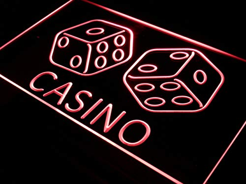 ADVPRO Casino Dice Lucky Game Bar Pub LED Neon Sign Red 16