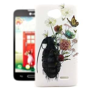 LG Optimus L70 Case , Leathlux Elegant Ultra Slim Protective Skin Hard Plastic Rear Case Cover Fit for LG Optimus L70 / D325
