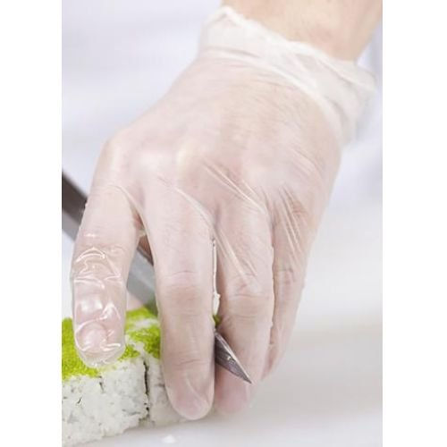 Handgards Clear Extra Extra Large Vinyl Disposable Gloves -- 1000 per case.
