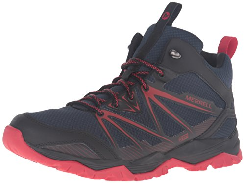 Merrell Gorra Ra Rise Mid Agua Proof Trail Hiking Botas - AW16 Navy