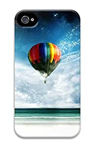 iPhone 4S Case Illustrations-Hot Air Balloon Pattern Hard Back Skin Case Cover For Apple iPhone 4 4G 4S Cases