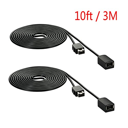FBApayipa 2pcs Black 3M 10ft Extension Cable for Nintendo NES Classic/Mini Edition Controller and Wii Nunchuck and Wii Classic Controller Extension Cords Extender Gamepad (Wii Mini Bundle compare prices)