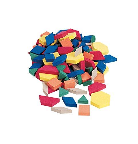 School Smart Jumbo Foam Pattern Blocks - 3 inch - Set of 250 - Assorted Colors (Blocks School)