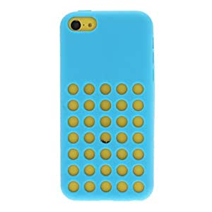 Solid Color Funny Designed Silica Gel Soft Case with Many Small Holes for iPhone 5C(Assorted Colors) , Black