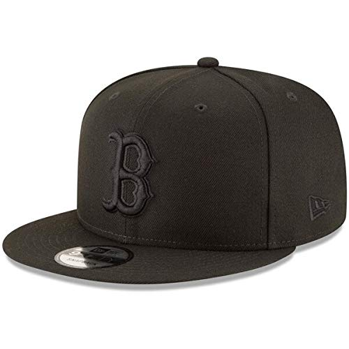 New Era MLB Boston Red Sox Black On Black Snapback Cap 9fifty Limited Edition ()