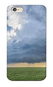 Appearance Snap-on Case Designed For Iphone 6- Clouds Storm Field Rain (best Gifts For Lovers)