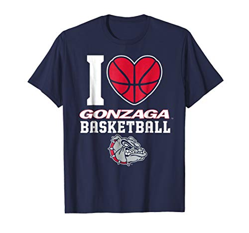 Gonzaga Bulldogs Gonzaga - I Heart Basketball T-Shirt