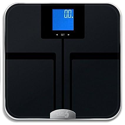 GETFIT grasa corporal báscula Digital de precisión EatSmart w/400 Lb. Capacidad Auto –