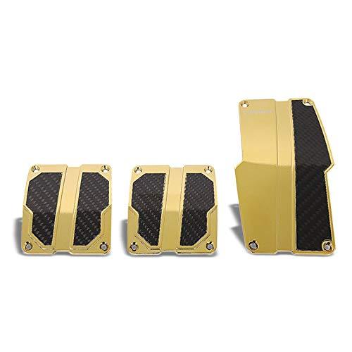 UrMarketOutlet NRG PDL-100CG Brake/Gas/Clutch Manual MT Sport Race Foot Pedal Plates Cover Set (Gold Chrome w/Black Carbon)