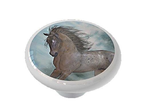 Garden Fantasy Horse Ceramic Drawer - Drawer Garden Knob