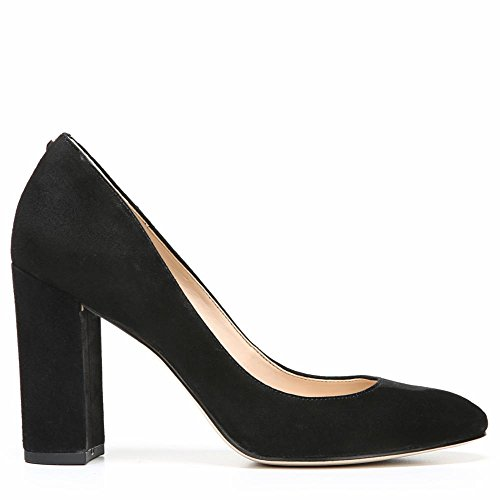 Sam Women's Stillson Black Suede Leather Edelman Kid Pumps RnPBRr