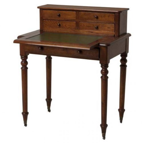 Vintage Sekretär aus edlem Eichenholz und Echtleder Schreibunterlage - Luxus Qualität