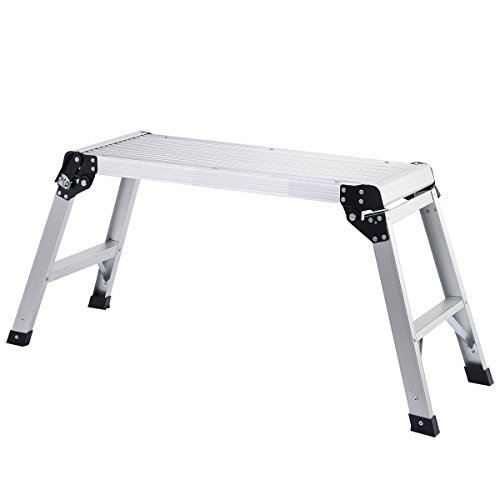 (TG888Warehouse Platform Ladder Step Aluminum Bench Stool Work Folding Step Up Scaffold Duty Purpose)