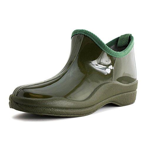 Chaussures De Pluie De Base Extérieure De Base Pour Femmes En Couleur Unie (adultes) Olive
