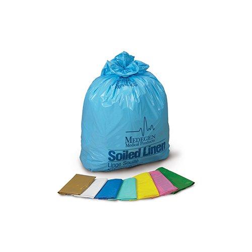 Medegen Medical Products 288 Blue/Black LLDPE Laundry and Linen Bag, 1.2 mil Gauge, 30-1/2'' x 41'' Size (Pack of 100) by Medegen Medical Products