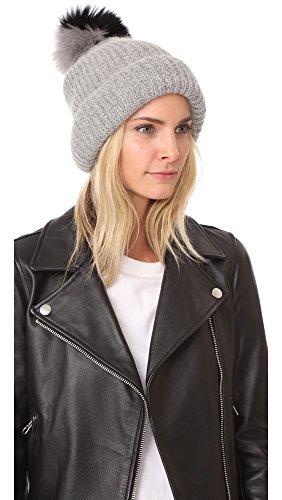 Eugenia Kim Women's Maddox Pom Pom Hat, Light Grey, One Size by Eugenia Kim