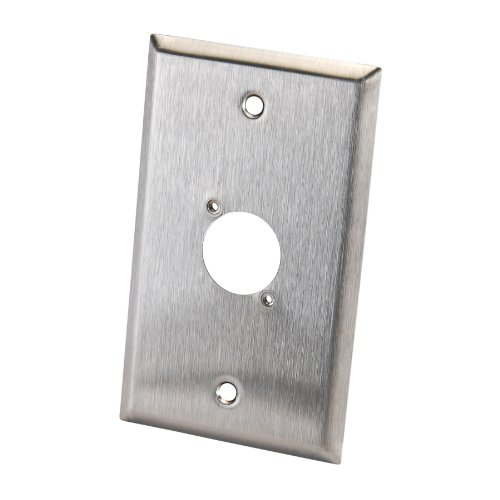 Switchcraft WP1S1P Single Gang Stainless Steel Metal Wall Plate 1 x EH Hole (Switchcraft Metal)