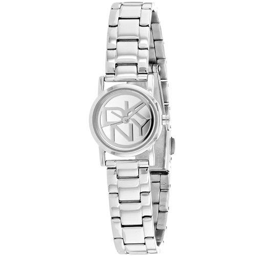 DKNY Silver-Tone Mirror Dial Round Link Women's watch #NY8854