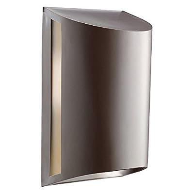 Kichler Woods 10922AZ Outdoor Wall Lantern - 7 in. - Architectural Bronze