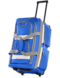 22 Inch 8 Pocket Rolling Duffel, Royal Blue, One Size