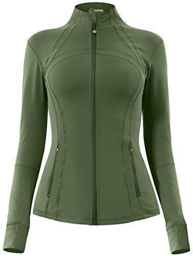QUEENIEKE Women's Sports Define Jacket Slim Fit and Cottony-Soft Handfeel 60927