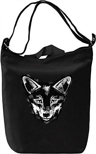 Cute Fox Borsa Giornaliera Canvas Canvas Day Bag| 100% Premium Cotton Canvas| DTG Printing|