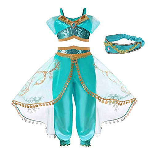 (ugoccam Girls Princess Dress Up Costumes Halloween Cosplay Costume Party Fancy Dress)