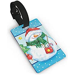Christmas Snowman Travel ID Label For Bag With Strap,Luggage Tag Travel Baggage Tags