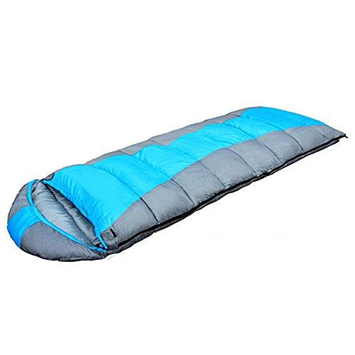Ezyoutdoor Blue Outdoor Camping Winter Spring Winter Envelope Sleeping Bag Ultra-light Envelope Sleeping Bag for Outdoor Camping Backpacking Hiking