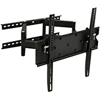 Mount-It! TV Wall Mount Full Motion Swivel and Tilt Dual Arms 32 37 40 42 47 49 50 55 inch TVs, 154 Lbs Weight Capacity, Black