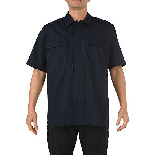 5.11 Tactical Men's Taclite Short Sleeve TDU Shirt, Dark Navy, Medium ()