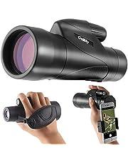 Gosky 12x50 ED Glass Monocular- Ultra HD Multi-Coated Waterproof Monocular Telescope-BAK4 Prism for Wildlife Bird Watching Hunting Camping Travelling Wildlife Secenery