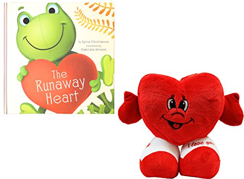 """Price comparison product image """"The Runaway Heart"""" Book w / Cupid Heart"""