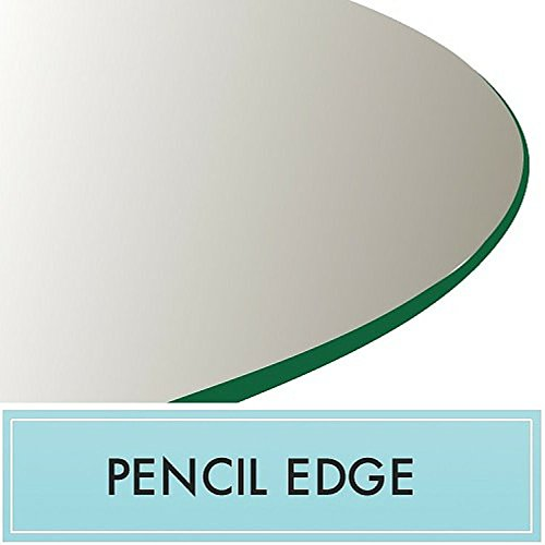 24'' Round Tempered Glass Table Top 3/8'' Thick with Pencil Edge