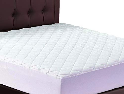 Lux Decor Quilted Fitted Mattress Pad Stretch To Fit Mattress Cover Stretches Up To 16 Inches Deep Mattress Topper 1 Queen