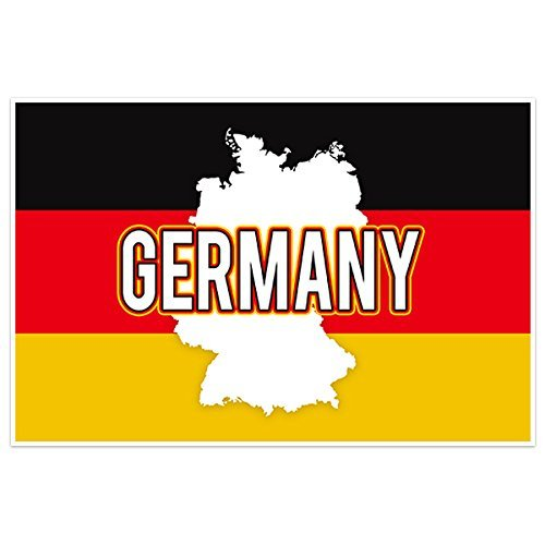 Germany Flag With Country Text Wall Art - Germany Ship To Usps