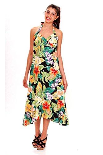 Schwarz Schwarz Damen Sommer Hawaiikleid Pacific S Hawaii XXL Legend Original Blumen Print qw4AxpTngB