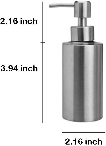 Eon Systems 250 ML Grigio WC Dispenser di sapone in acciaio inox per sapone e sapone per cucina