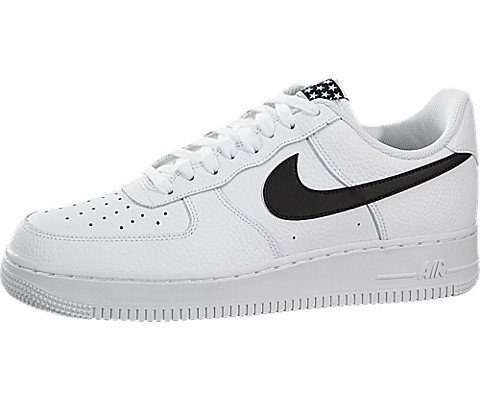 NIKE Mens Air Force 1 Low 07 Stars Basketball Shoes White/Black AA4083-103 Size 8 - Nike Air Force 1 Retro