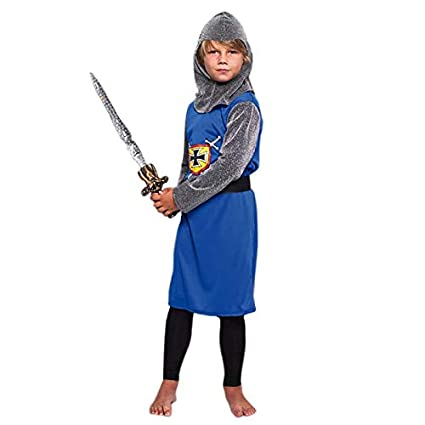 Disfraz Caballero Medieval Azul niño Infantil para Carnaval ...
