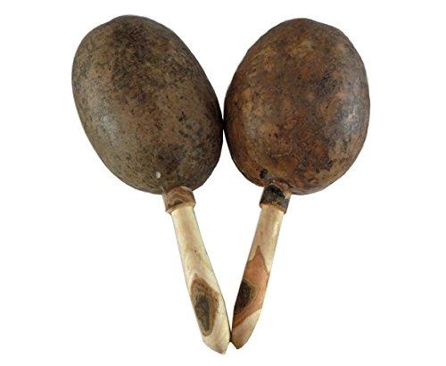 Mexican Handmade Natural Maracas Pair (Gourd Pair Maracas)