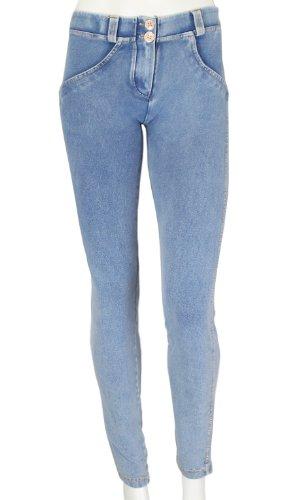 Gialle Jeans Denim Blu Modellanti Aderenti Freddy Wr Cuciture up Chiaro Donna 6q17wv