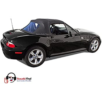 BMW Z3 Convertible Top in Black Trilogy Acoustic Vinyl with Plastic Window