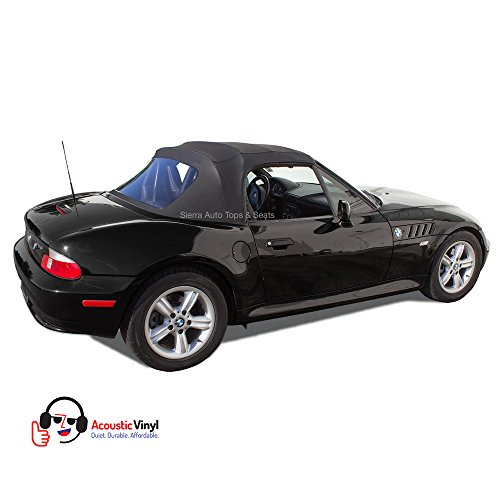 BMW Z3 Convertible Top in Black Trilogy Acoustic Vinyl with Plastic Window (Convertible Tops For Bmw Z3 compare prices)