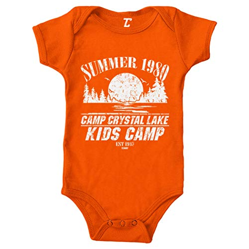 Tcombo Camp Crystal Lake Kids Camp - Parody Bodysuit (Orange, Newborn)]()